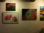 Les grosses fleurs de Ginette Mille, et à droite, les couleurs de Cardo Laccia