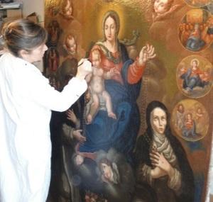 PAOLA BAROUK MONTEFUSCO, restauratrice d'Art