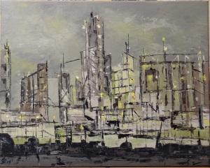 Patrick Lesné, tableau commencé à la Séance de Peinture