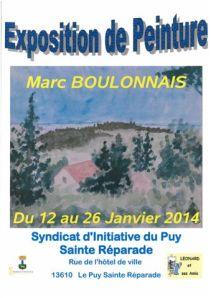 MARC BOULONNAIS expose au Puy Sainte Réparade