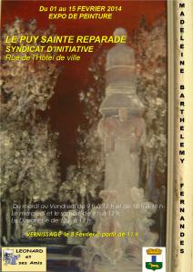 Pour exposition à Le Puy Sainte Réparade, du 1er Février au 15 Février 2014