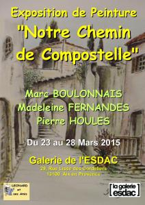 Affiche Compostelle ESDAC