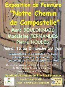 Affiche Compostelle - Le Puy sainte Réparade (1)