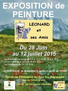 Affiche LEONARD-Le Puy sainte Réparade