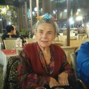Ginette, 7 novembre 2015, chignon décoré